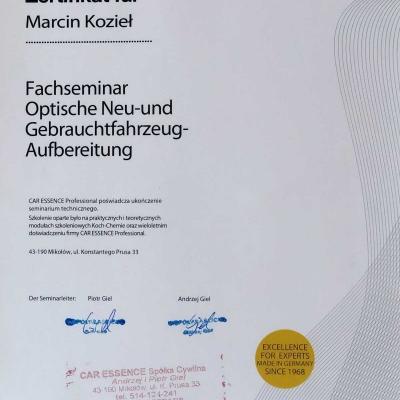 Certyfikat 2